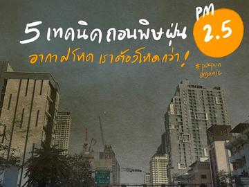 5 เทคนิคถอนพิษฝุ่น PM2.5?
